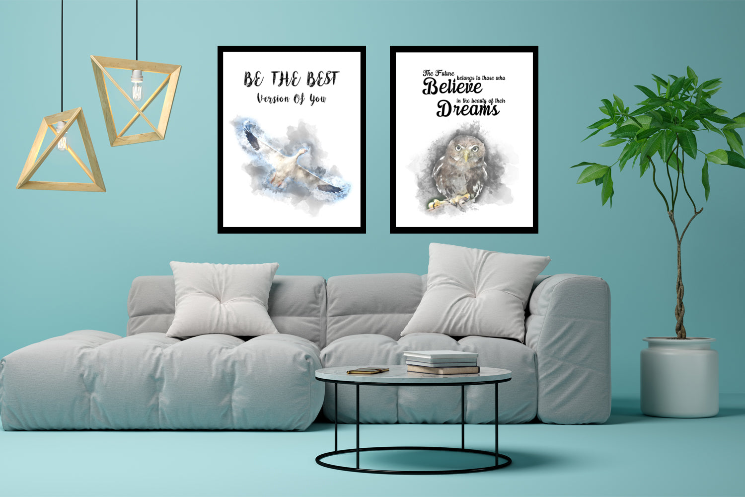 Set of Two Canvas Design, Be The Best, Painting Canvas Designs, Art Designs, Printable Art