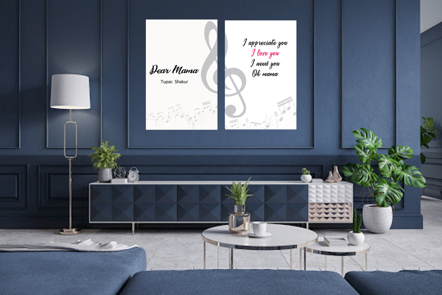 Gift for Mom, Mothers Day Song Canvas, Dear Mama, Printable Art, Mom Quote Art
