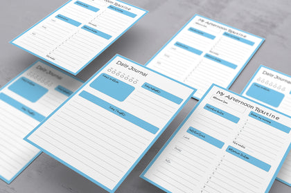 My Routine Planner - Using For Improving Your Daily Productivity, Time Management (Blue Version)