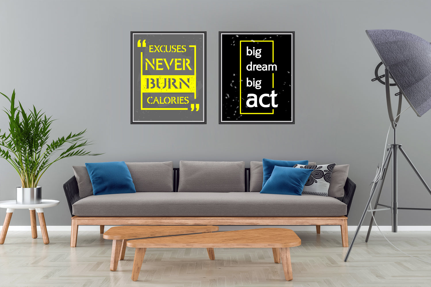 Set of Two Motivation Picture Canvas Paintings , Canvas Designs, Painting Canvas Designs, Printable Art Designs, Art Quote