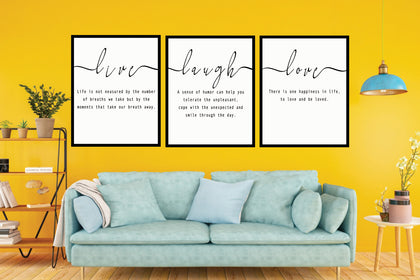 Text Canvas Set, Live Quote Art, Text Art Materials, Instant Download, Digital Print