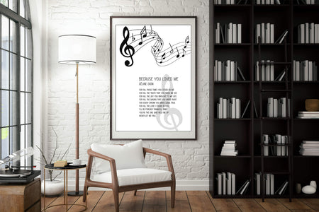 Gift for Mom, Mothers Day Song Canvas, A Song for Mama, Printable Art