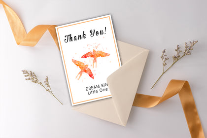Thank You Card, Dream Big Little One, Bird  Paintings, Painting Card Designs, Art Designs, Original and Prints