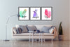 Set of Three Bird Canvas  Paintings , Canvas Designs, Painting Canvas Designs, Art Designs, Printable Art (Style 2)