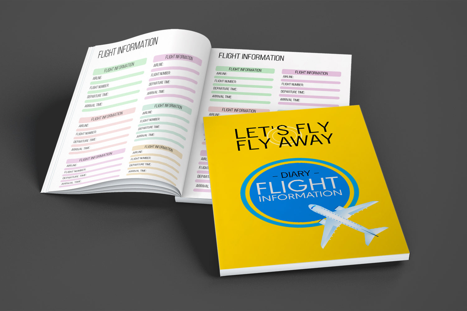 Flight Information Diary, Planning Your Journey, This Is The Perfect Diary To Use, Printable