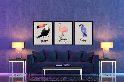 Set of Three Bird Canvas  Paintings , Canvas Designs, Painting Canvas Designs, Art Designs, Printable Art (Style 1)