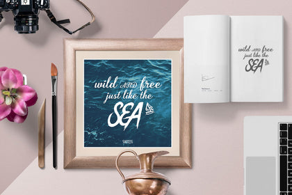 Wild and Free Just Like The Sea Canvas Wall Art, Canvas Sea Wall Art, Sea wall Decor, Sea Poster, Sea Art, Editable and Printable