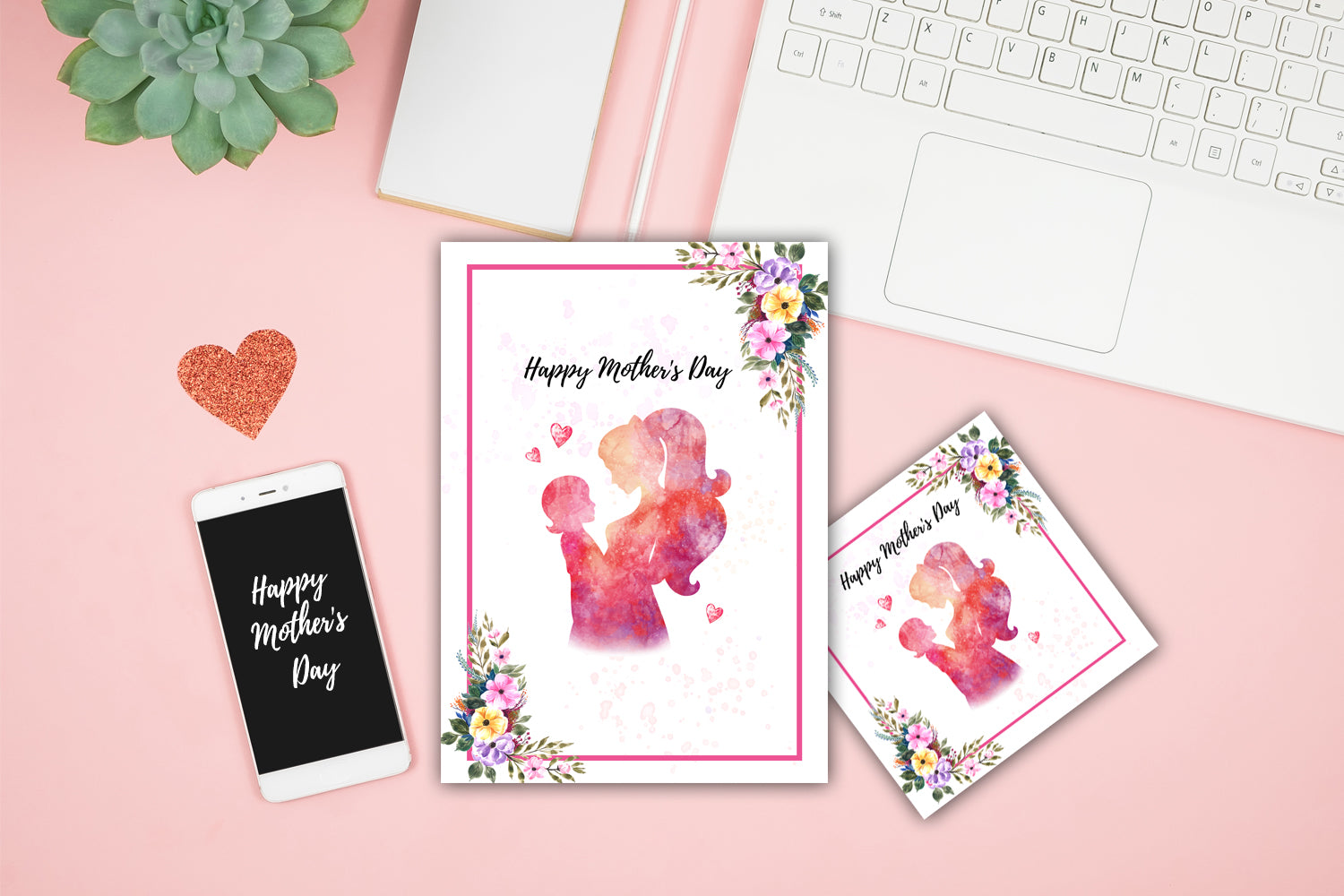 Women Day Card, Happy Mother's Day, Painting Card Designs, Art Designs, Original and Prints