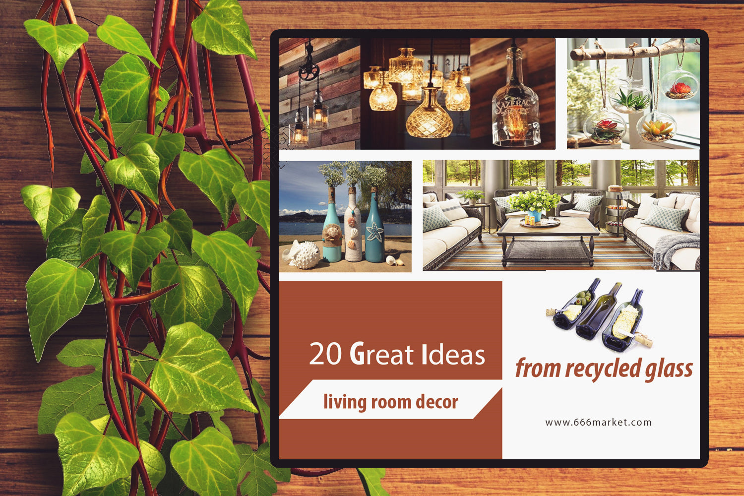 20 Great Ideas for Living room decor from recycle bottles, from whiskey bottles (Can DIY, Printable And Editable)