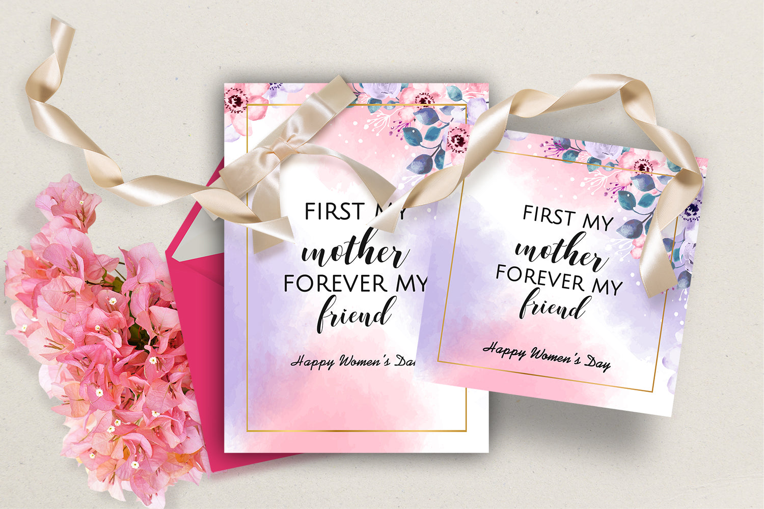 Mother's Day Greeting Cards - First My Mother, Forever My Friend, INSTANT DOWNLOAD