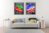 Set of Two Portugal And France Football Team Win The Championship Canvas Paintings