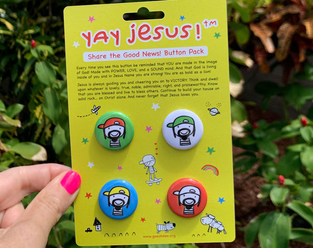 Button Pack - Yay Jesus! Share the Good News 1