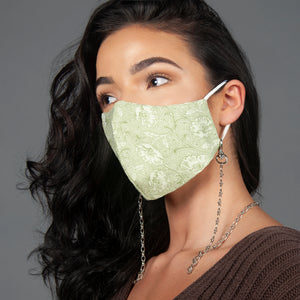 Paisley Face Mask With Chain