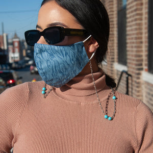 Aqua Face Mask With Chain