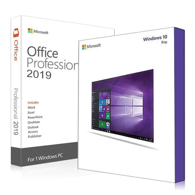 MICROSOFT Windows 10 Pro + Office 2019 Pro Plus
