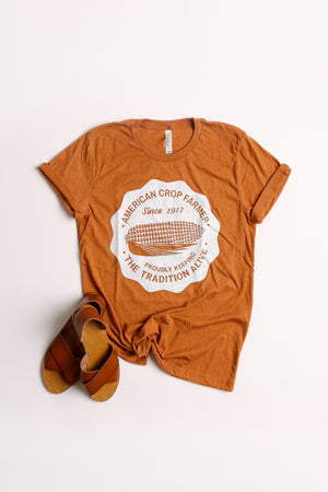 American Crop Farmer Tee - Autumn