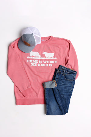 'Home Is Where My Herd Is' Crewneck