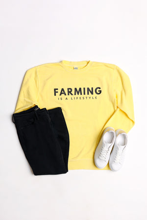 'Farming Is A Lifestyle' Crewneck