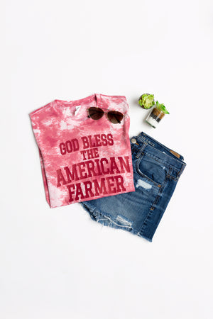 God Bless the American Farmer Tie-Dye T-Shirt - PREORDER