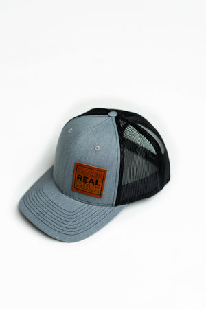 Drink Real Milk Leather Patch Trucker Cap