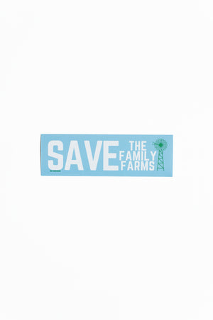 'Save The Family Farms' Bumper Sticker