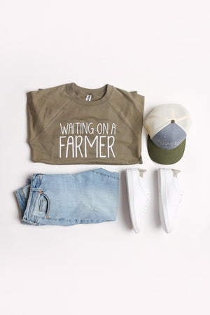 'Waiting on a Farmer' Lightweight Crewneck Sweatshirt