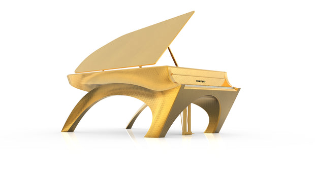 24k Gold Designer Self Playing Piano - Save The Bees