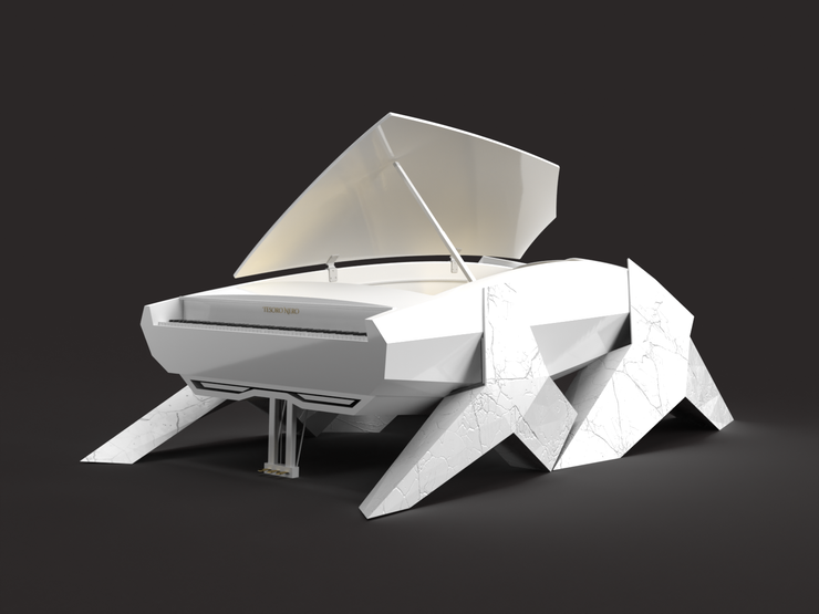 BUILT SLOT AVAILABLE - The Italian White Marble Hyper Piano