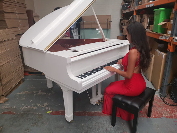 SALE NOW ON - White Baby Grand Piano (without self playing system)