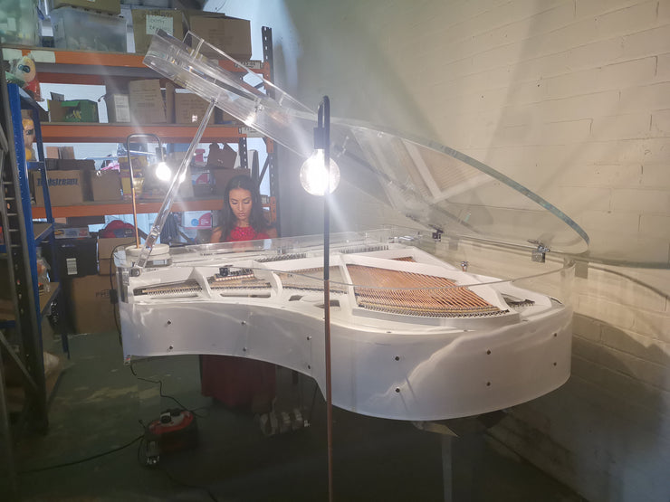 Acoustic Transparent Baby Grand Piano