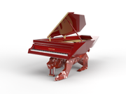 BUILD SLOT AVAILABLE - Italian Red Marble Panther Designer Piano