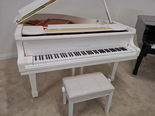 SALE NOW ON - White Baby Grand SELF PLAYING Piano