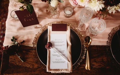 Luxury Wedding Favours from Emily's Lollies, perfect for an autumn themed Bridgerton inspired wedding