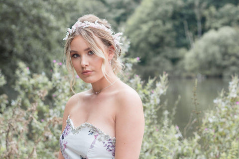 """Image of Bride by Lakeside from blog post """"Blush Pink Wedding Inspiration"""""""