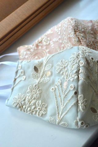 Handmade Embroidered Bridal Wedding Face mask