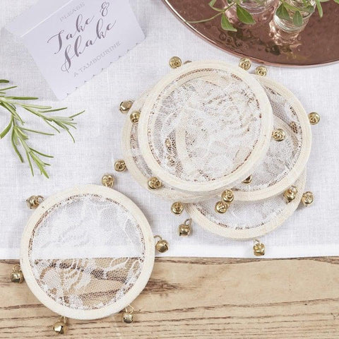 Tambourine wedding favour