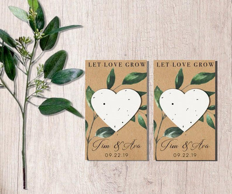 Plantable paper wedding favours
