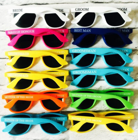 Wedding favour sunglasses