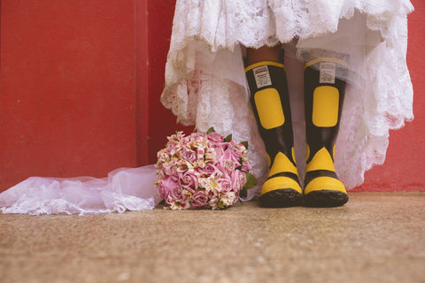Wellies for an outdoor wedding