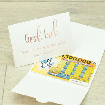 Lottery Ticket Wallet Wedding favour