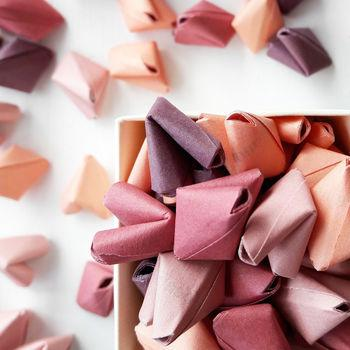 Origami love wedding favours