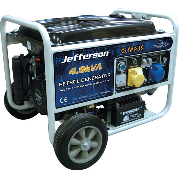 Jefferson Generator - 4.8Kva 9Hp Petrol - Electric Sta