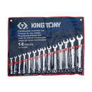 King Tony mm Spanner Set 14PC Combi 10-32mm