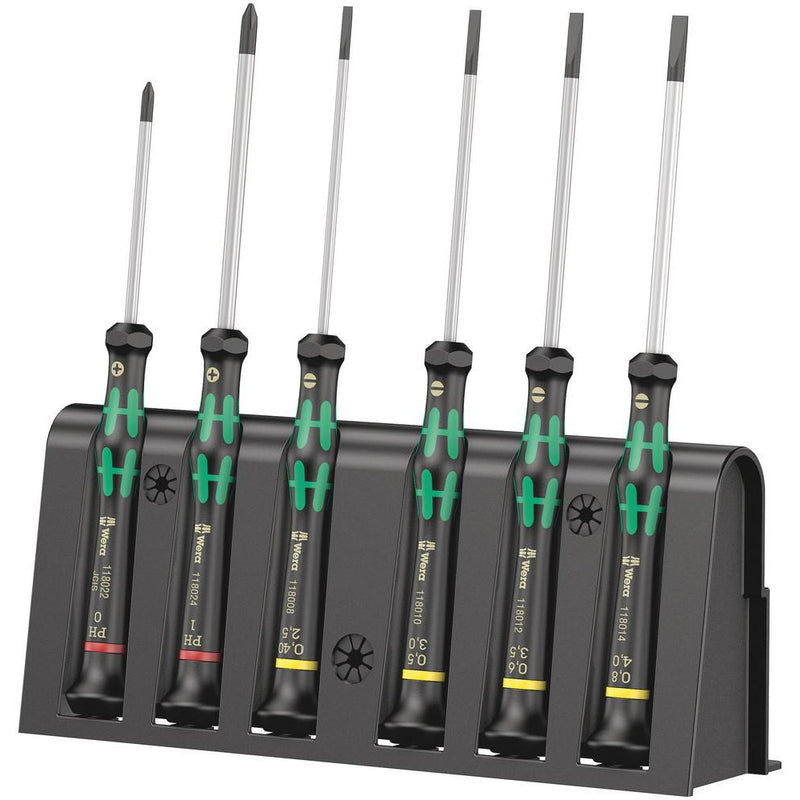 2035/6 B Screwdriver set and rack for electronic applications6 pieces