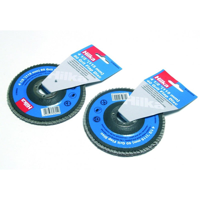 Hilka Flap Disc - 115mm 40G 4 - 1/2In