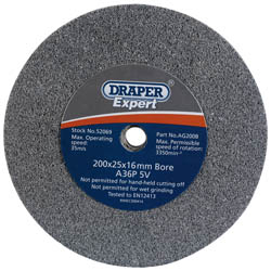 Draper Grinding Wheel 200X25mm 30 Grit