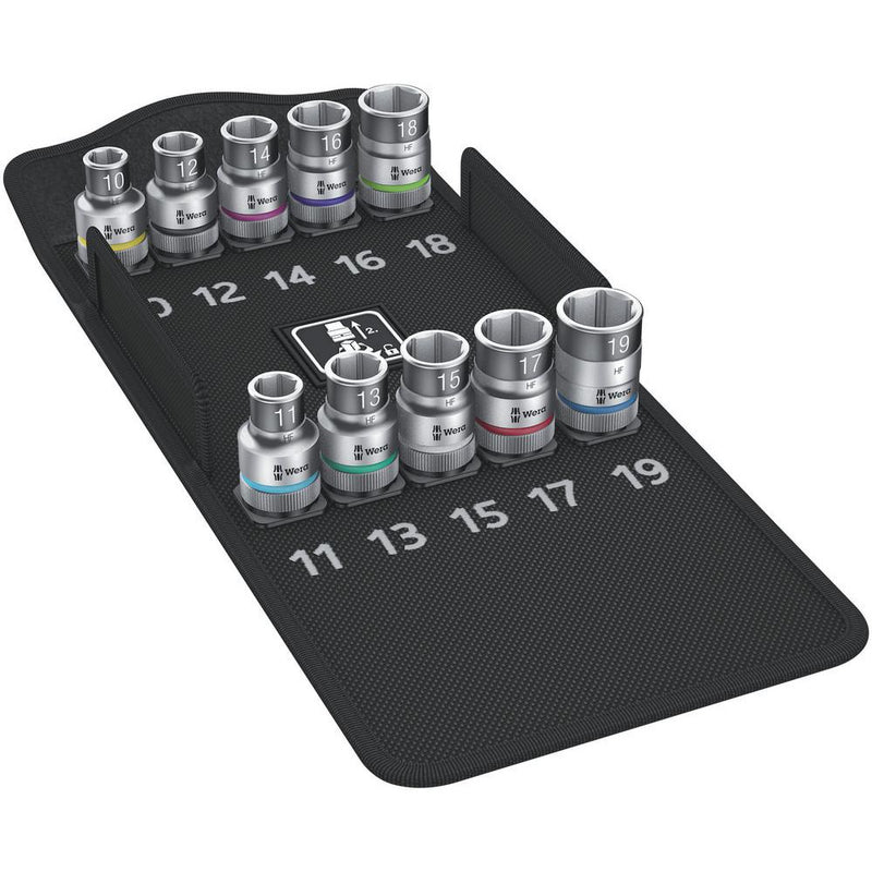 "8790 HMC HF 1 Zyklop socket set with 1/2"" drivewith holding function10 pieces"
