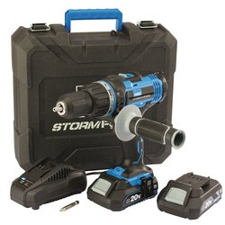 Draper Stormforce Hammer Drill 20V 2 x 2Ah Batteries & Charger