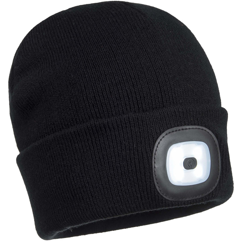 B029 Beanie LED Head Light USB Rechargeable Black Portwest at Ted Johnsons
