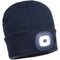 B029 Beanie LED Head Light USB Rechargeable Navy Portwest at Ted Johnsons